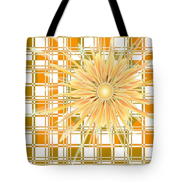 Tote Bag featuring the digital art Zinnia by Michelle H
