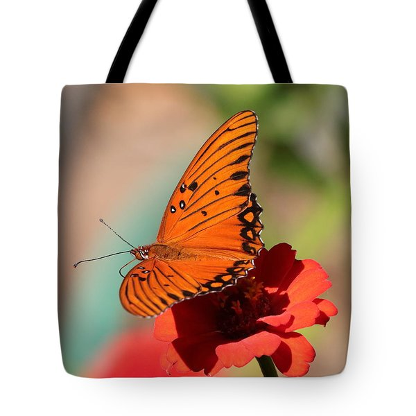 Zinnia With Butterfly 2669 Tote Bag