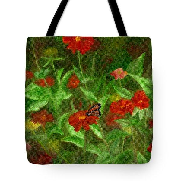 Zinnias Tote Bag