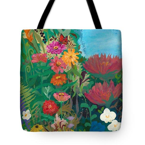Zinnias Garden Tote Bag