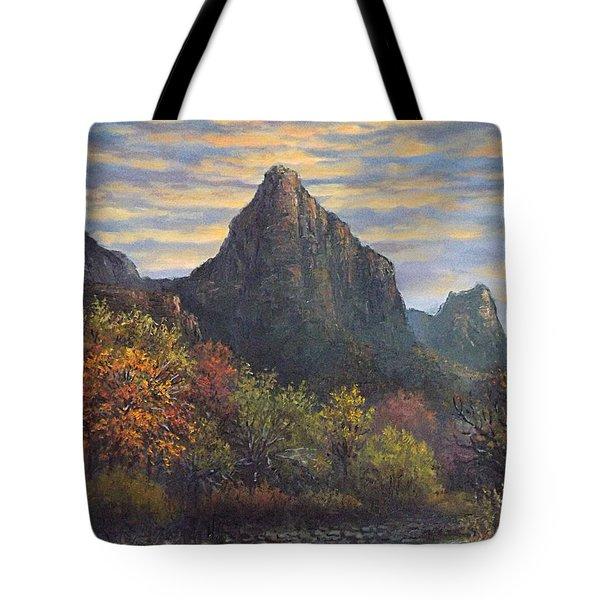 Zion Canyon Tote Bag by Sean Conlon