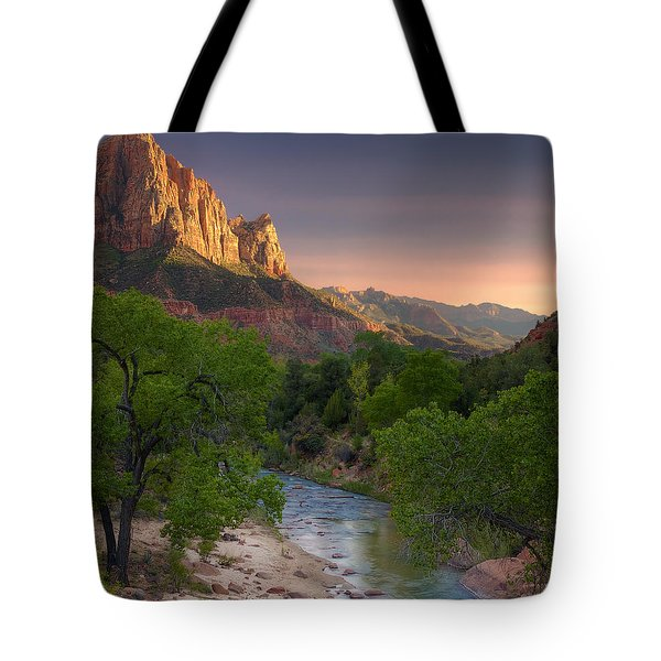 Zion Canyon Sunset Tote Bag