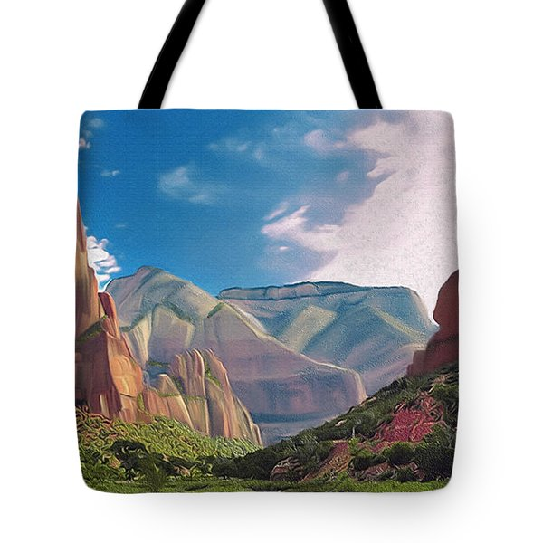 Zion Cliffs Tote Bag by Walter Colvin