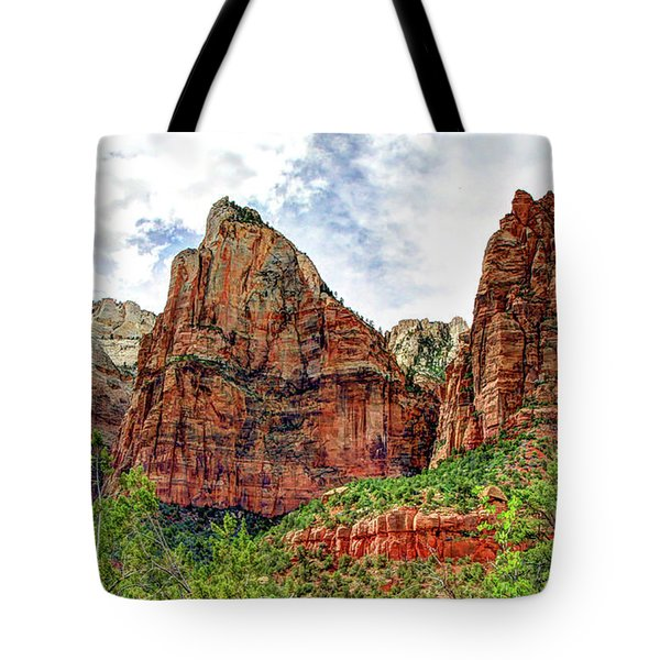 Zion N P # 41 - Court Of The Patriarchs Tote Bag