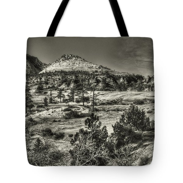 Zion National Park Along Rt 9 Tote Bag