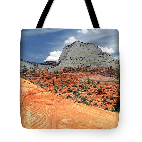 Zion National Park As A Storm Rolls In Tote Bag by Christine Till