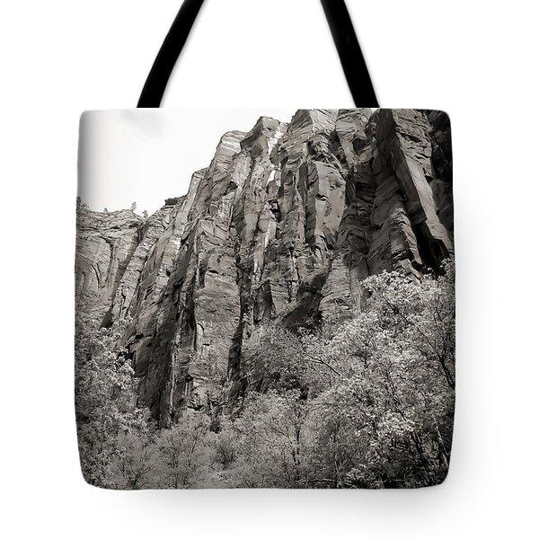 Zion National Park Sepia Tones  Tote Bag