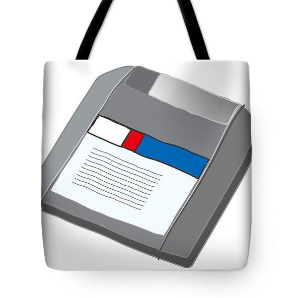 Zip Disk Tote Bag