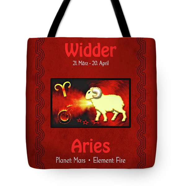 Zodiac Sign Aries - Widder Tote Bag