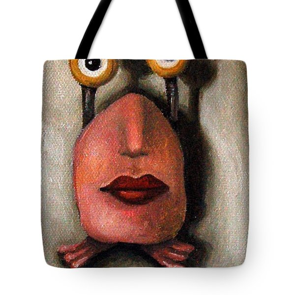 Zoe 1 Little Alien Tote Bag by Leah Saulnier The Painting Maniac