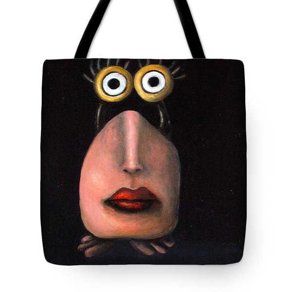 Zoe 2 The Little Alien Tote Bag by Leah Saulnier The Painting Maniac