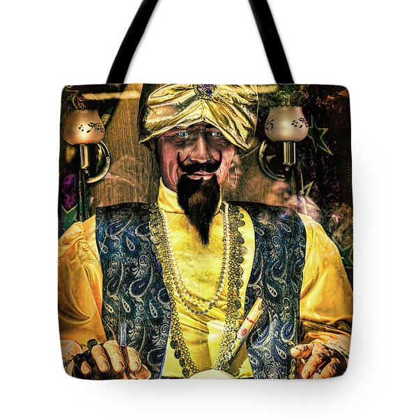 Tote Bag featuring the photograph Zoltar by Chris Lord