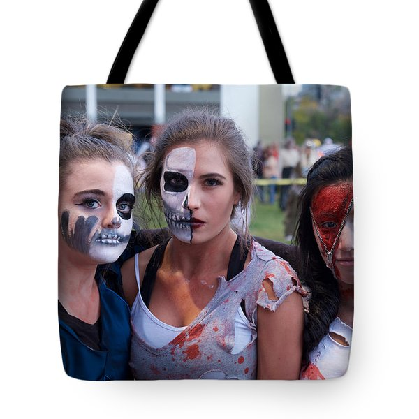 Zombie Girls Tote Bag by Vinnie Oakes