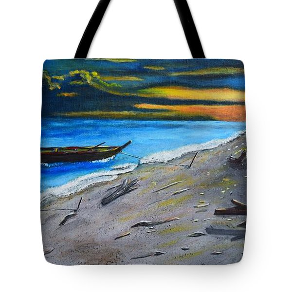 Tote Bag featuring the painting Zombie Island by Melvin Turner