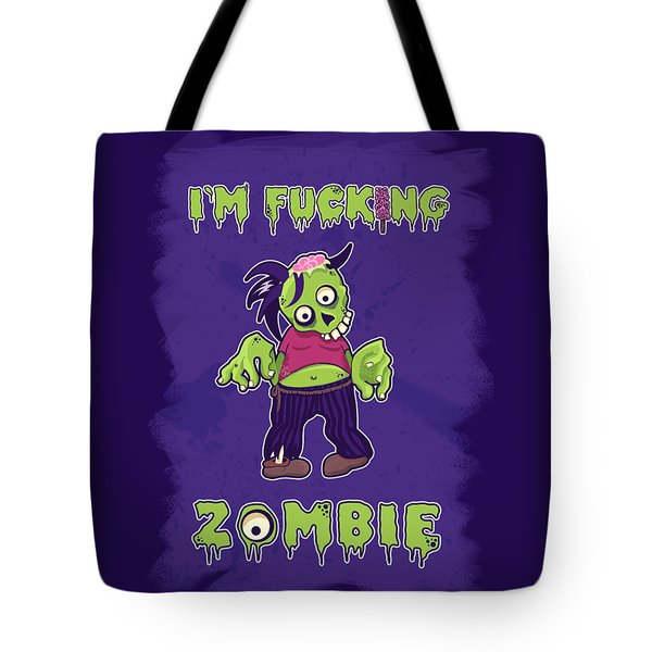Tote Bag featuring the digital art Zombie by Julia Art