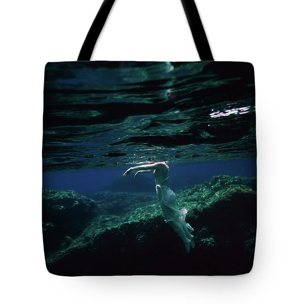 Zombie Mermaid Tote Bag