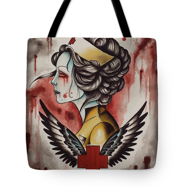 Zombie Nurse Tote Bag