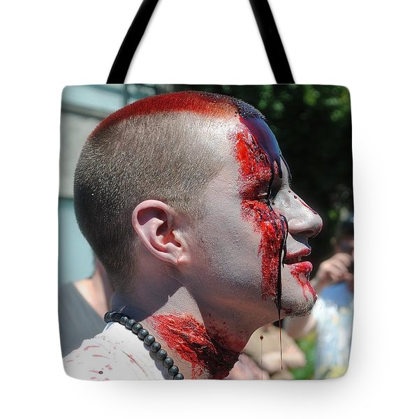 Zombie Profile Tote Bag