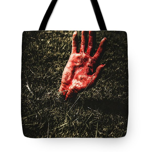 Zombie Rising From A Shallow Grave Tote Bag