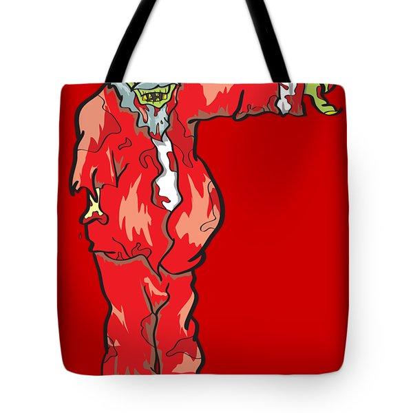 Zombie Santa Claus Illustration Tote Bag