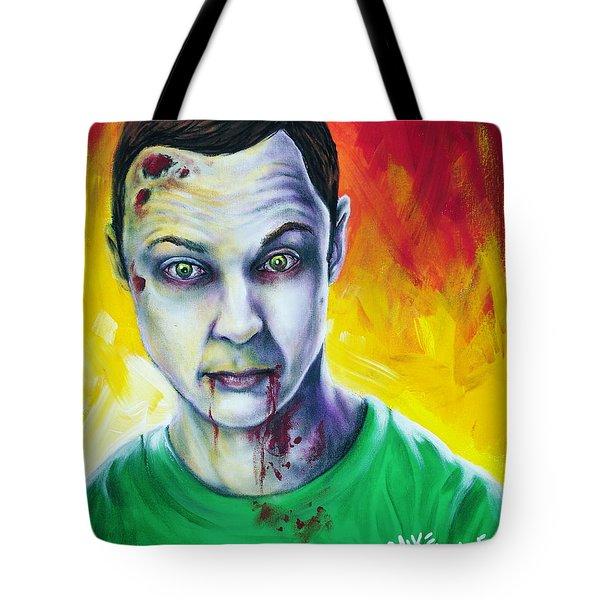 Zombie Sheldon Cooper Tote Bag