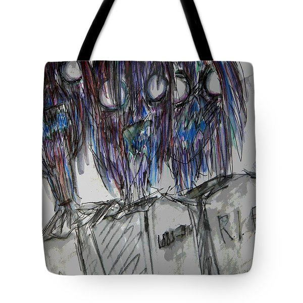Zombie Trio Tote Bag by Mimulux patricia no No