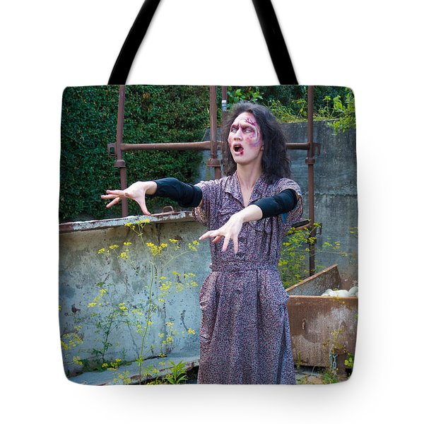 Zombie Woman Walking Tote Bag