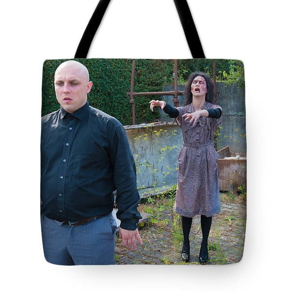 Zombie Woman Walking To Her Victim Tote Bag