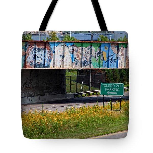 Zoo Mural Tote Bag