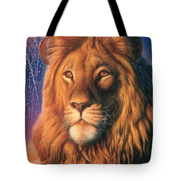 Zoofari Poster The Lion Tote Bag