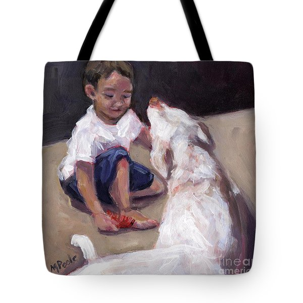 Zoom Groom Tote Bag by Molly Poole