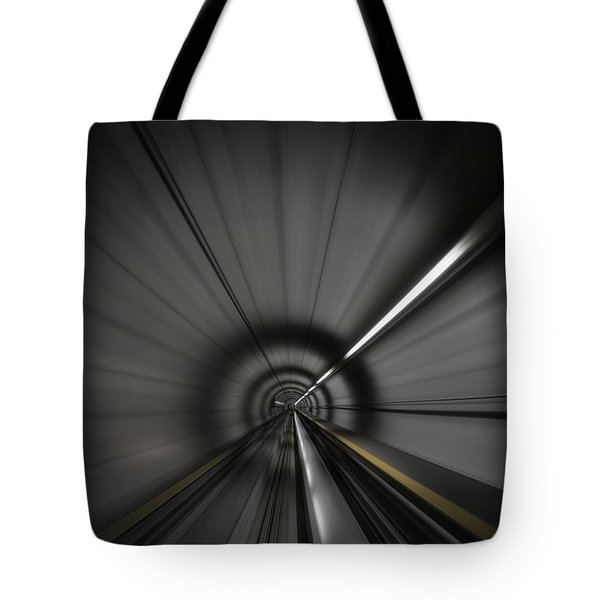 Zooming Along In The Tunnel Of Hope Tote Bag