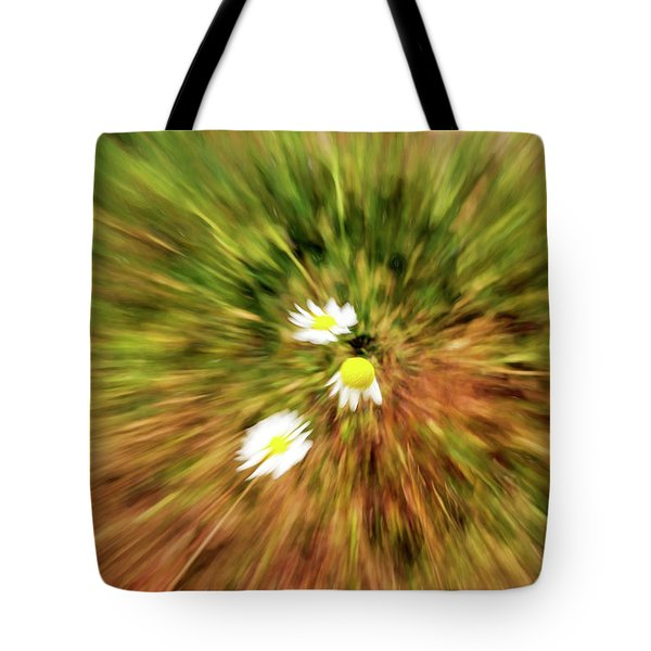 Zooming In Or Zooming Out Tote Bag by James Steele