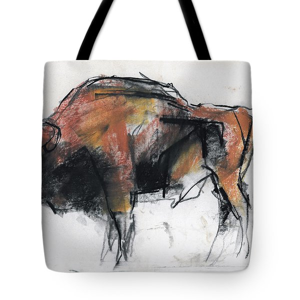 Zubre  Bialowieza Tote Bag by Mark Adlington