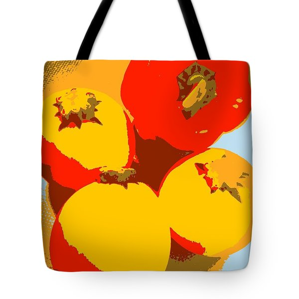 Zucchini And Bell Pepper Tote Bag