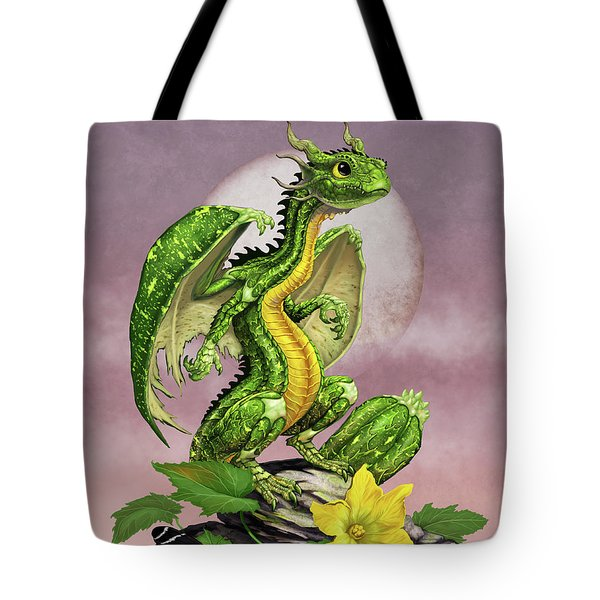 Tote Bag featuring the digital art Zucchini Dragon by Stanley Morrison