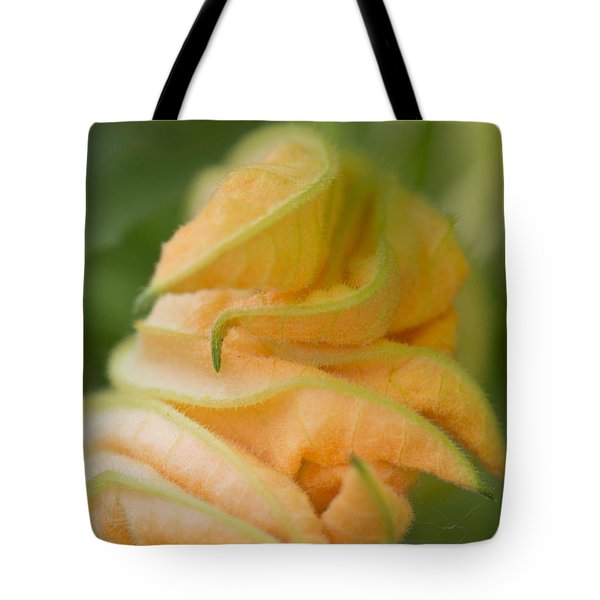 Tote Bag featuring the photograph Zucchini Flower by Cathy Donohoue