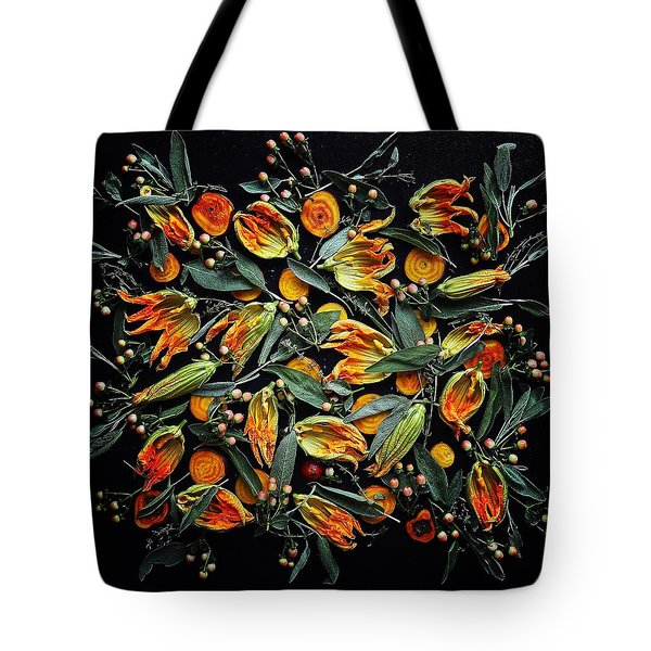 Zucchini Flower Patterns Tote Bag