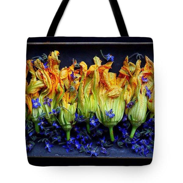 Zucchini Flowers Tote Bag