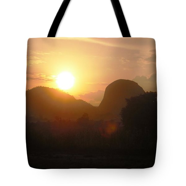 Zuma Rock, Abuja Nigeria Tote Bag by Bankole Abe