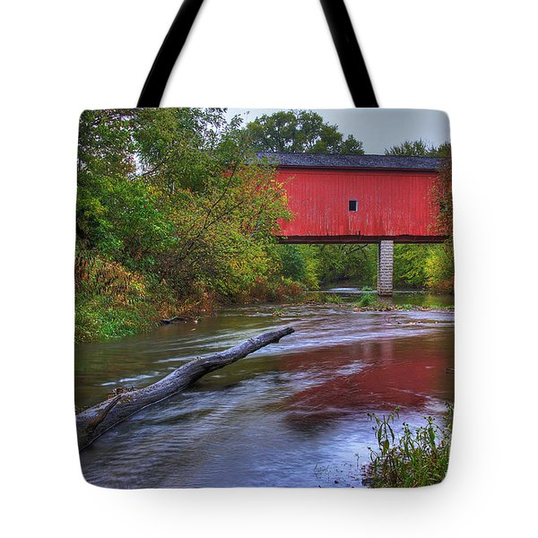 Zumbrota Minnesota Historic Covered Bridge 5 Tote Bag