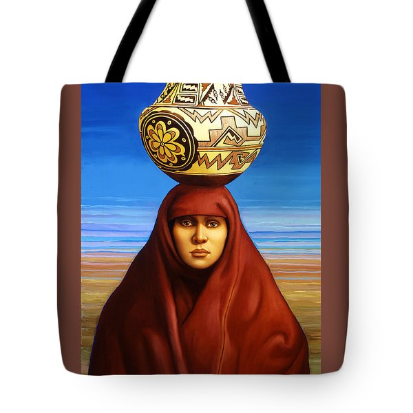 Zuni Woman Tote Bag by Jane Whiting Chrzanoska
