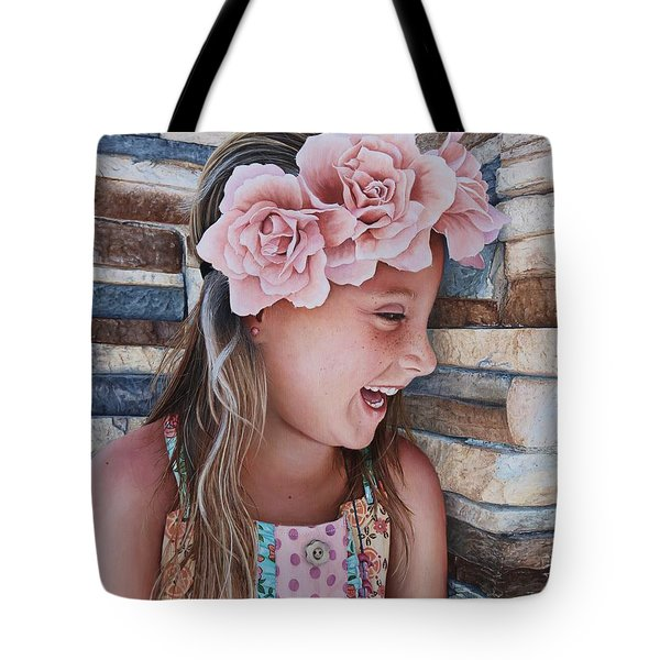 Tote Bag featuring the painting Zuri Painting by Mike Ivey