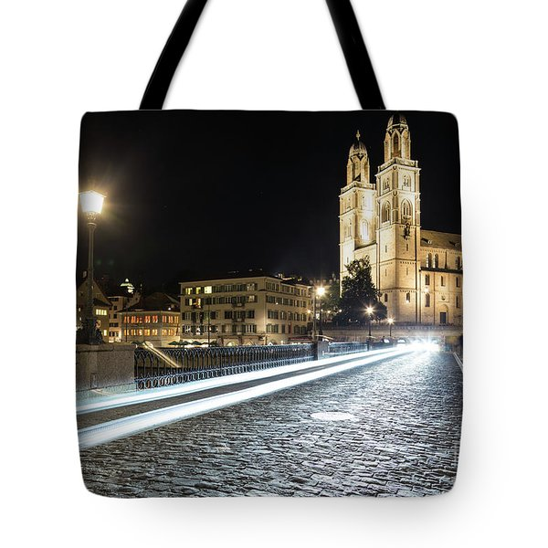 Zurich Night Rush In Old Town Tote Bag