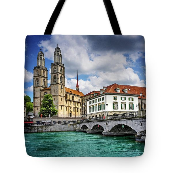 Tote Bag featuring the photograph Zurich Old Town  by Carol Japp
