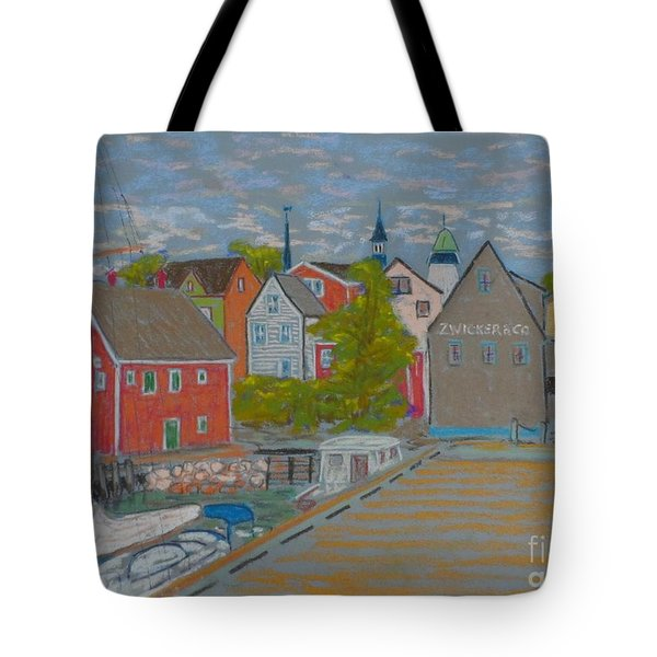 Zwickers Wharf Lunenburg Tote Bag