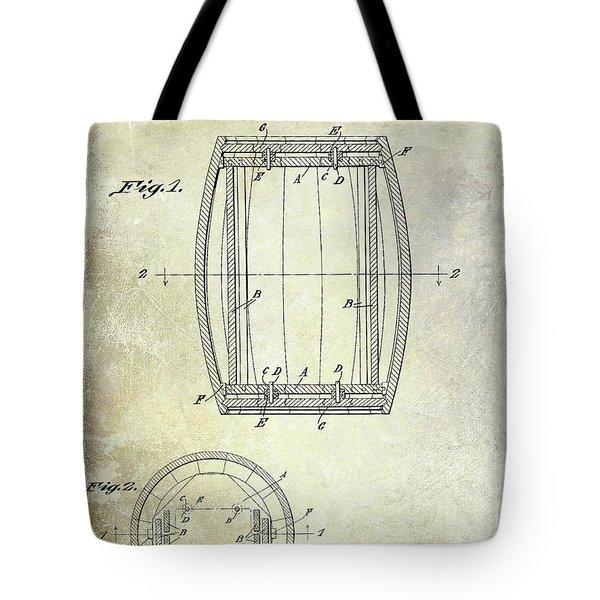 1937 Whiskey Barrel Patent Tote Bag