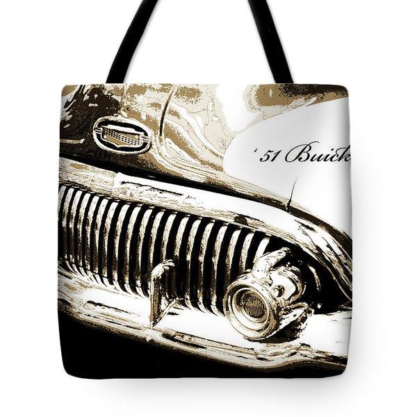 1951 Buick Super, Digital Art Tote Bag