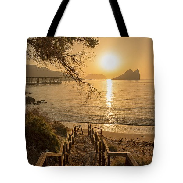 Access To The Beach At Dawn Tote Bag