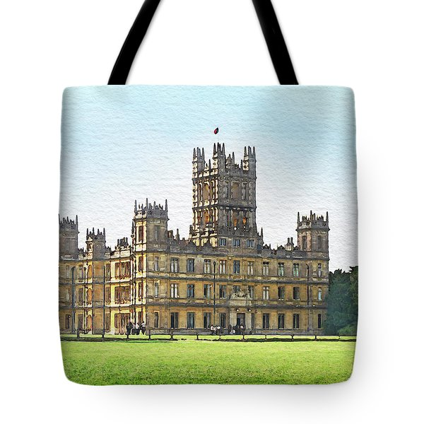 A View Of Highclere Castle Tote Bag